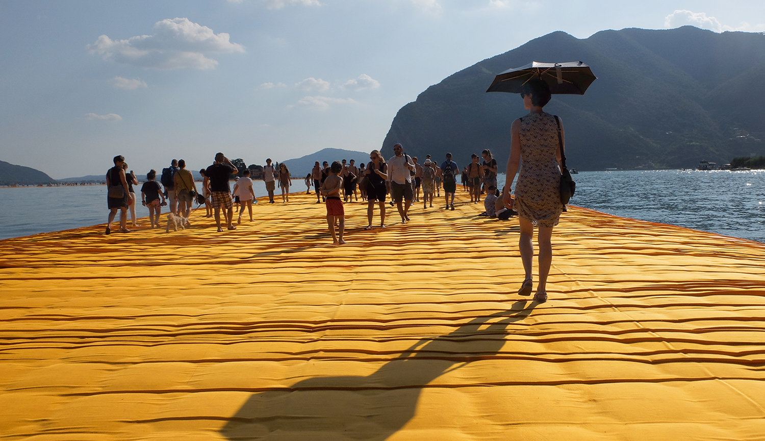 Floating Piers -  Lago d'Iseo 28.6.2016